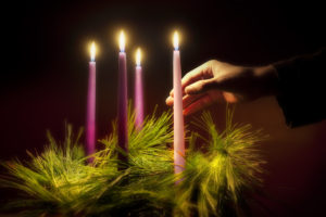Advent, a season of joyful expectation before Christmas, begins Nov. 29 this year. The Advent wreath, with a candle marking each week of the season, is a traditional symbol of the liturgical period. (CNS photo/Lisa A. Johnston, St. Louis Review)